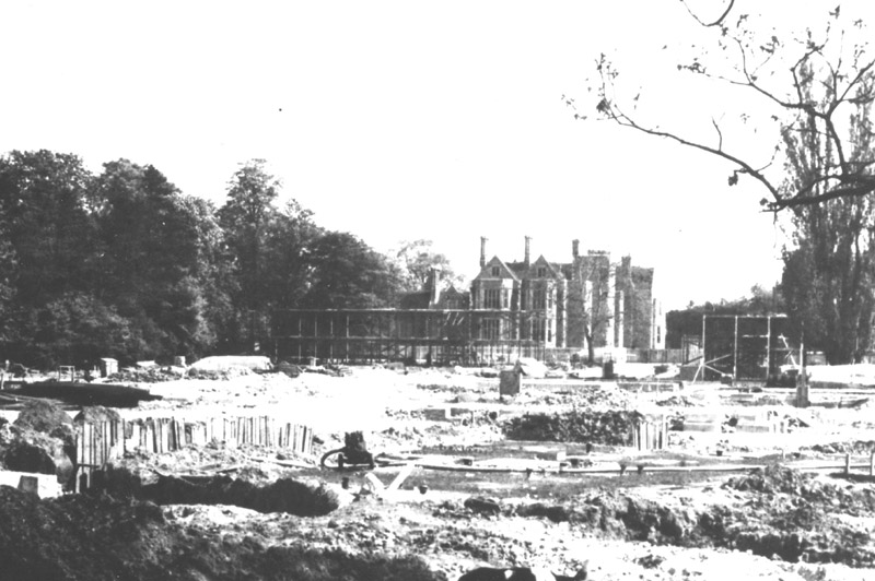 Image: Heslington Hall and university construction, 1963