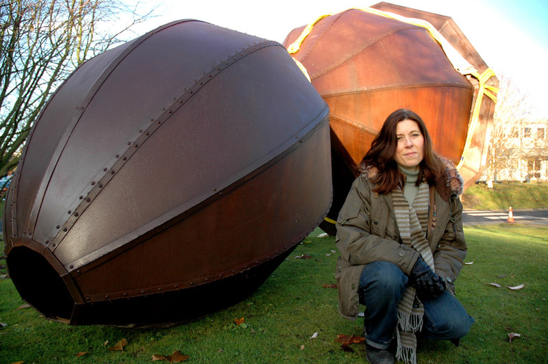 Image: Beyond and Within (Joanna Mowbray) installed outside Wentworth College, December 2005