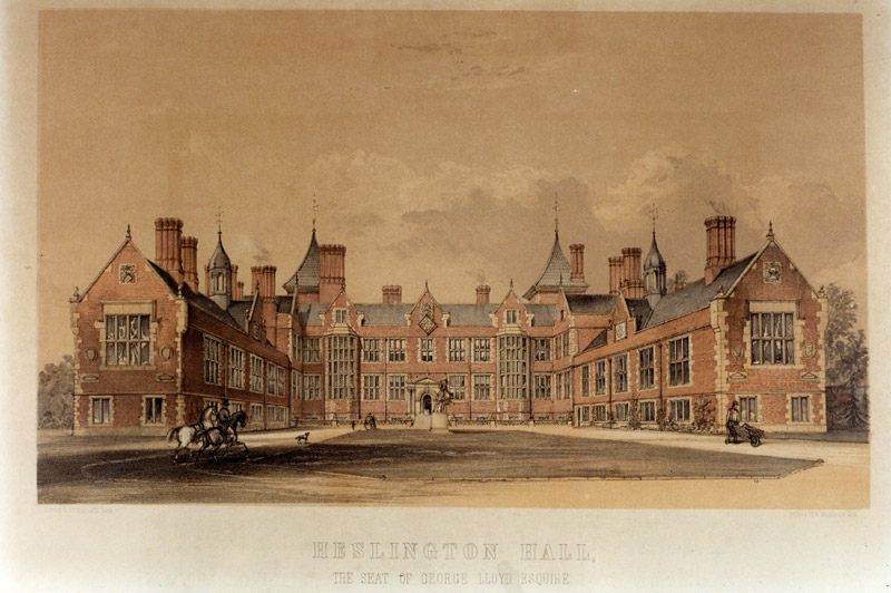 Image: Heslington Hall by W. Monkhouse (1860)