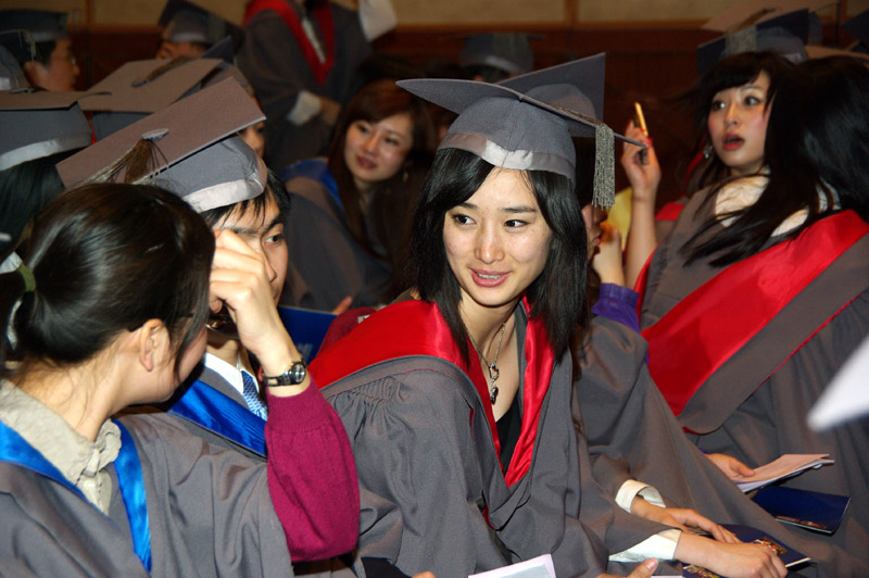 Image: The University's first graduation ceremony outside York held in Beijing, March 2008