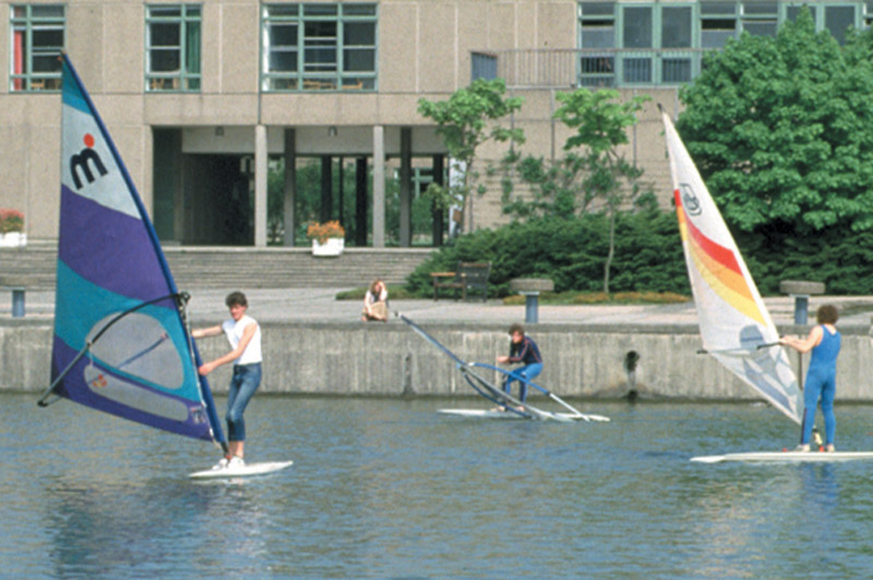 Image: Windsurfing on the lake, 1980s