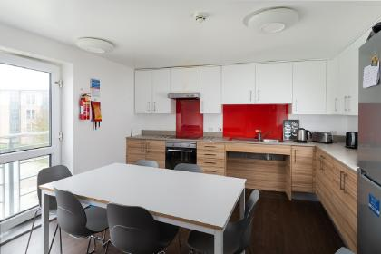 A shared kitchen in Wentworth College.