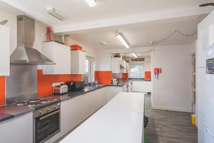 A band 3 shared bathroom kitchen in Derwent College.
