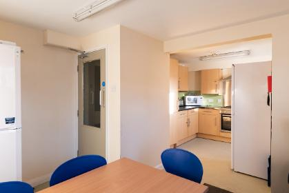 A band 3 shared bathroom kitchen in Eden's Court, Derwent College.