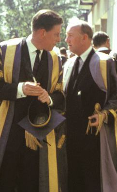 Lord Harewood and Lord James at York's first graduation ceremony