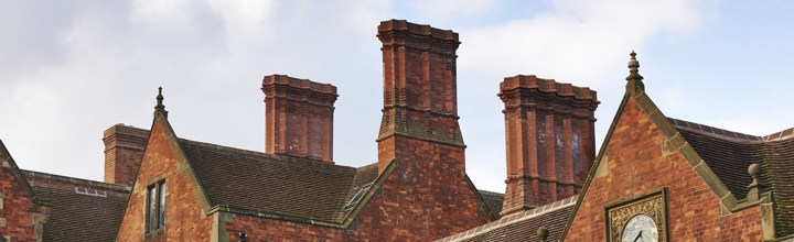 Heslington Hall gables and chimneypots. Credit: John Houlihan