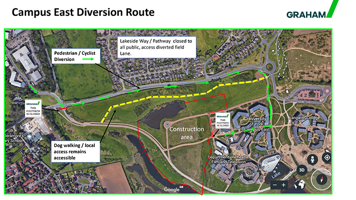 Campus east diversion 720 x 405