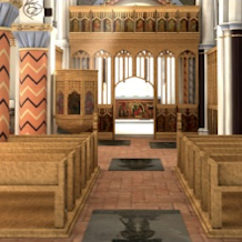 3-D render of a 15th century parish church