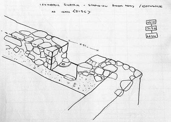 Isometric Sketch from Archaeologist Michael House