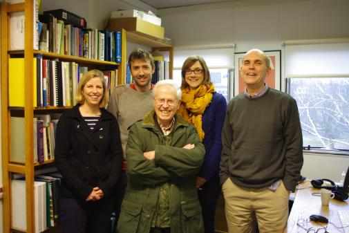 Don Brothwell with members of the BioArCh team