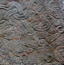 Great Beast motive from the greater Jelling rune stone (10th century)