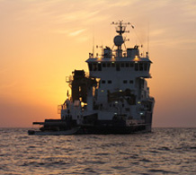 MV Midyan, Saudi Aramco, at anchor in the Farasan Islands, 2006