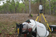 Scanner in use at Weipa mound