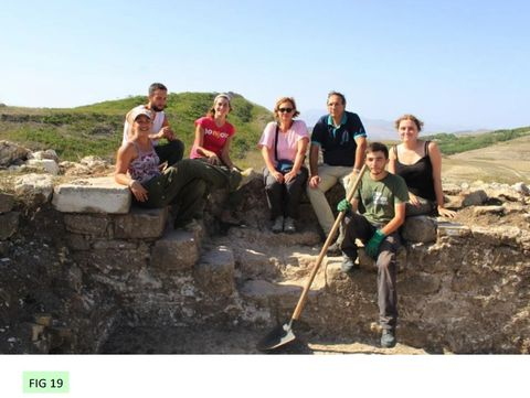 FIG 18: Staff and students from the Universities of York and Rome Tor Vergata at Monte