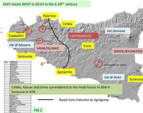 FIG 2: Regime change in Sicily, 6th to 11th century