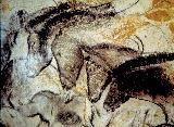 Horses from the Hillaire Chamber, Chauvet Cave. Photo courtesy of the French Ministry of Culture and Communication, Regional Direction for Cultural Affairs, Rhône-Alpes region, Regional Department of Archeology.
