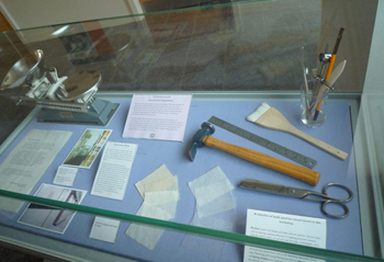 The showcase on conservation, showing conservation tools