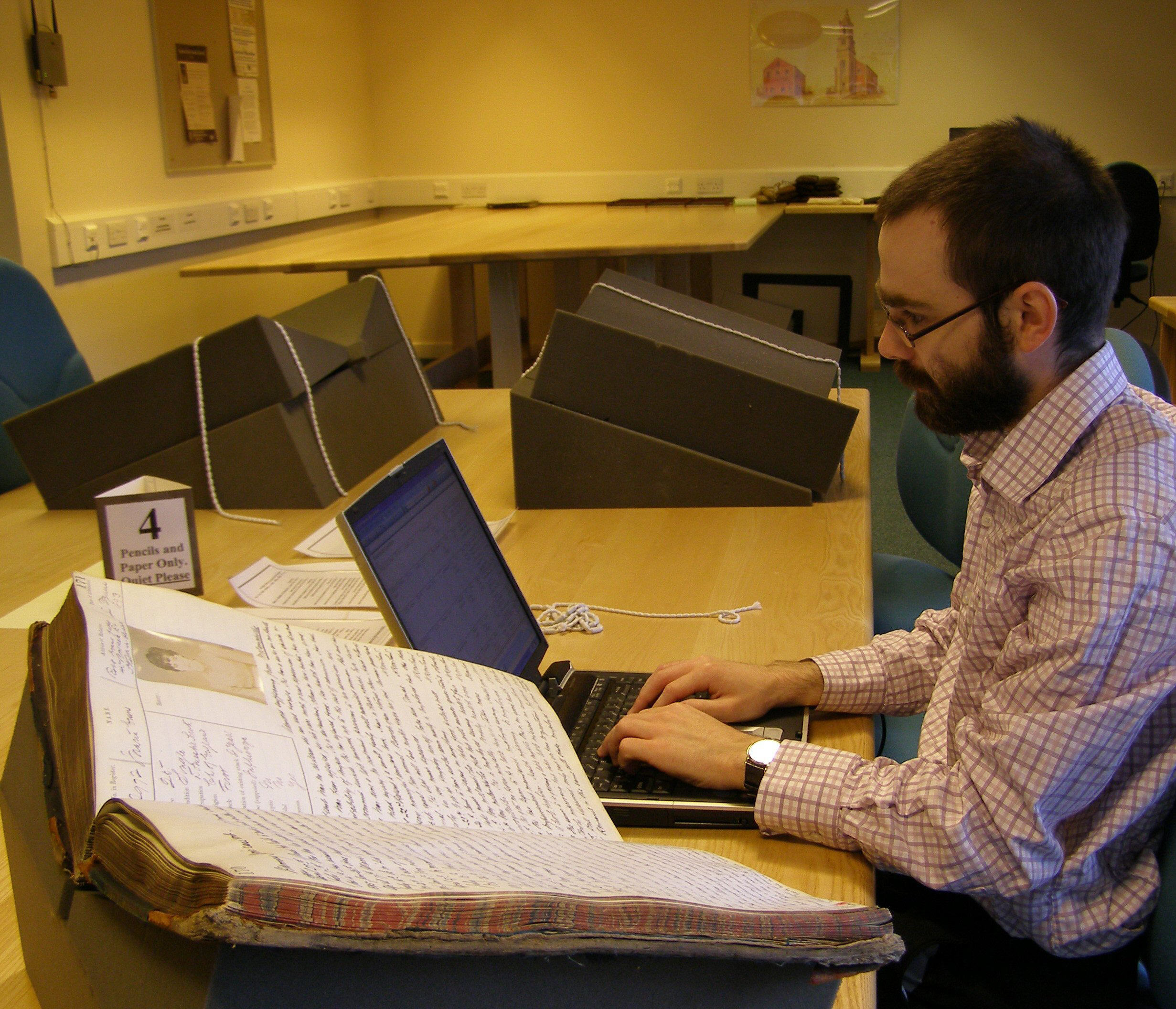 Using archives in the new Borthwick searchroom
