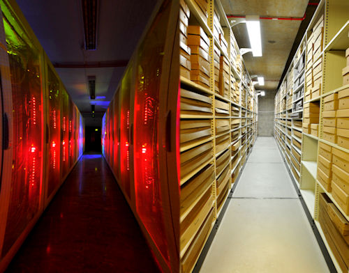 IT services data centre and Borthwick strongroom