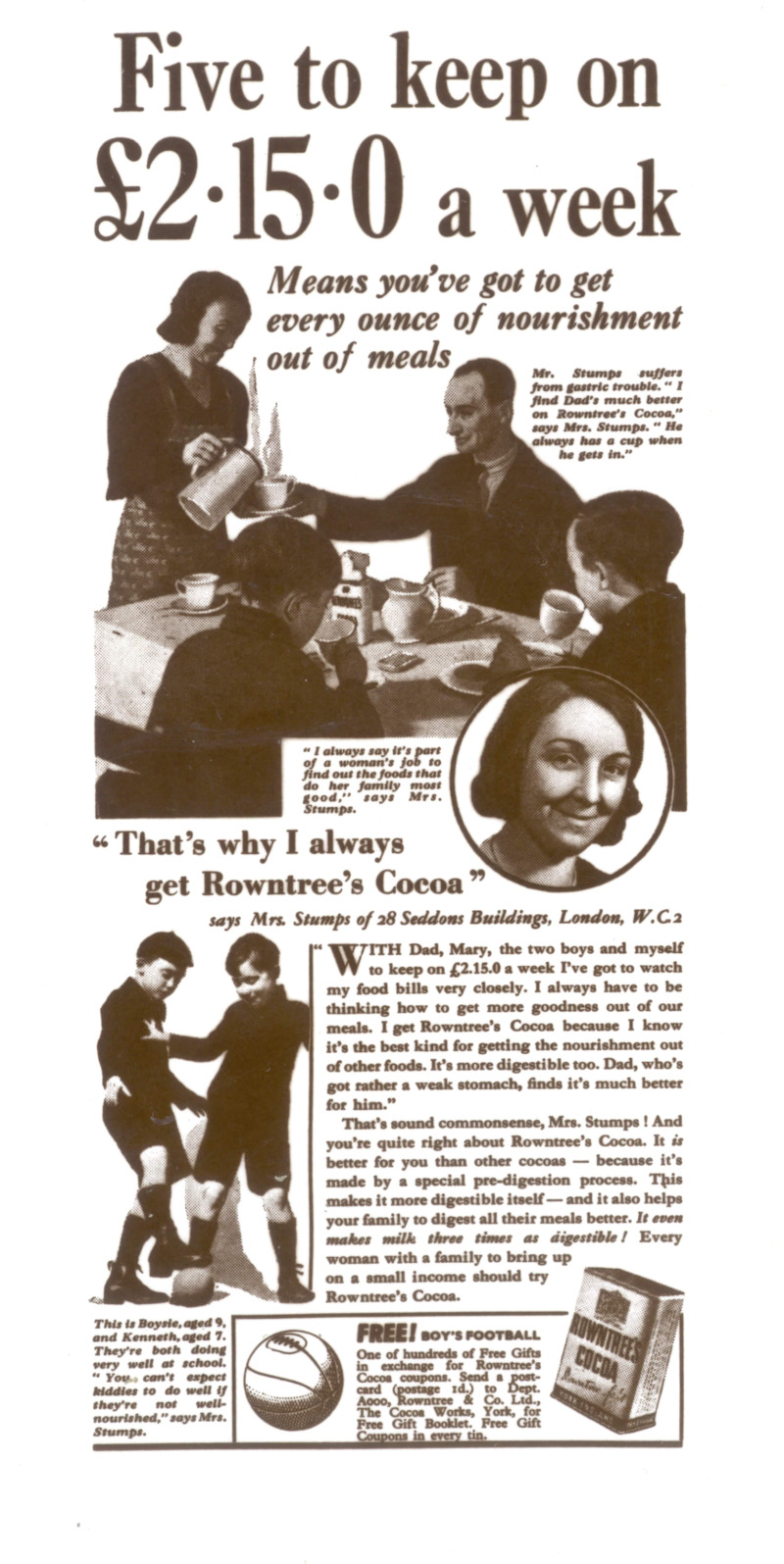 Image: Cocoa 'Five to keep' 1936