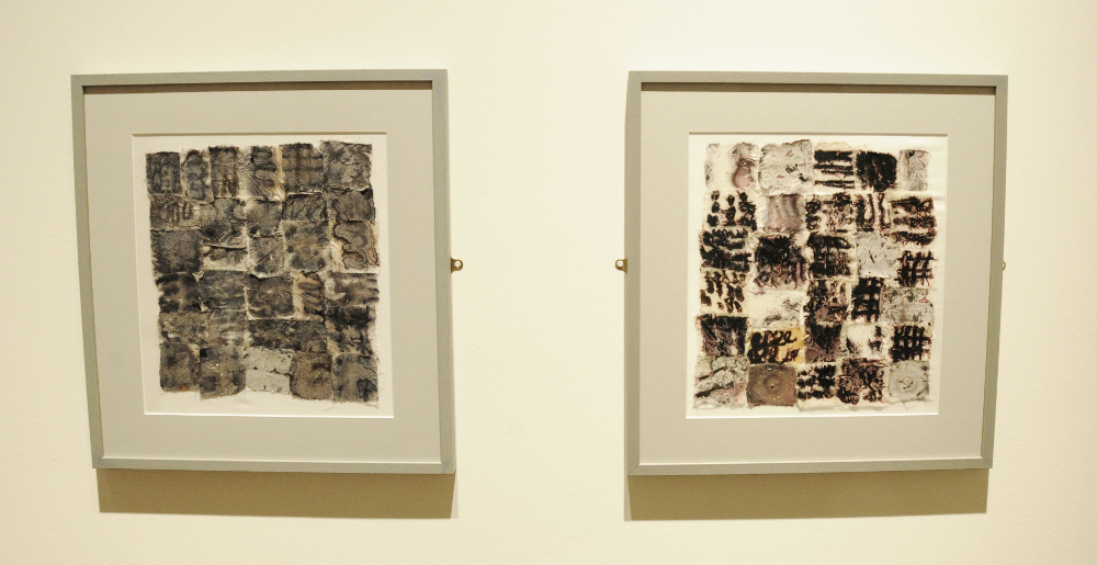 Image: 'Viral Interventions' diptych by Anna Dumitriu