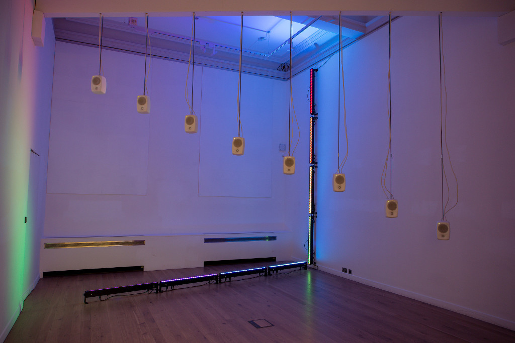 Image: 'Listening and Silence' installation by Mark Fell and Sandra Pauletto