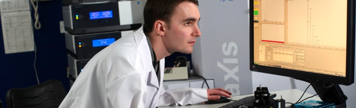 A researcher in the Bioscience Technology Facility