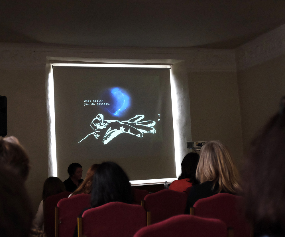 Image: Presentation of film by Kate Sweeney