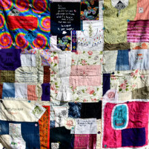 Quilt by Mexican embroidery artist Rosa Borras'