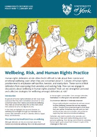 WEllbeing policy brief