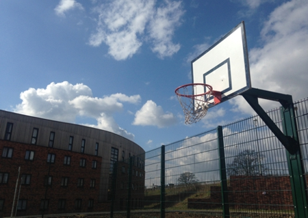 Open access basketball court investing in our campus for Cheapest way to make a basketball court