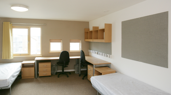 college bedroom. Goodricke College Bedroom (© Shepherd Construction)