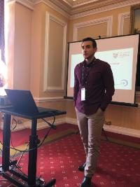 Georgios Nikolaidis presenting at the Royal Statistical Society conference Cardiff