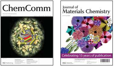 Journal covers feature liquid crystals