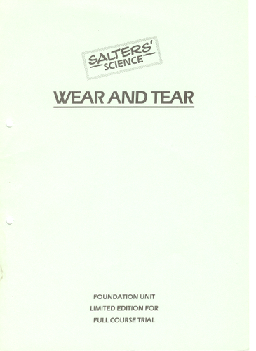 Image: Wear and tear book