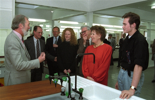 Image: Opening of refurbished teaching lab by the University chancellor Dame Janet Baker