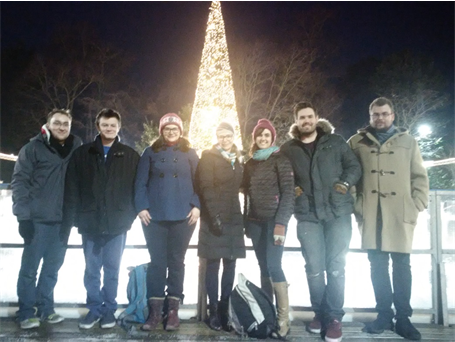 The group at the christmas skating party