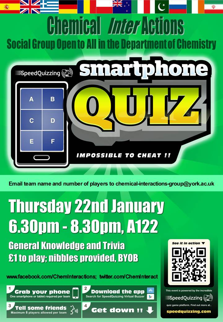 Chemical InterActions Smart Phone Quiz poster