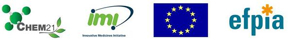 CHEM21 / IMI/ EU/ Efpia logos