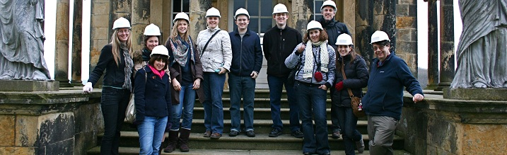 Group at Castle howard with hard hats on