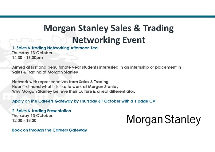 Morgan Stanley Sales Amp Trading Networking Event