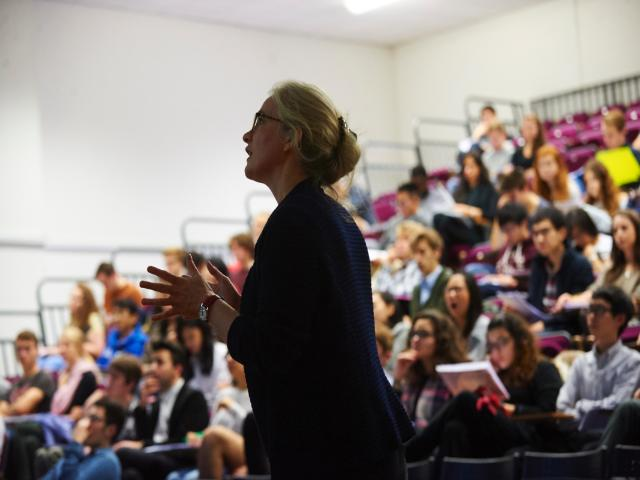 Jo Swaffield lecturing