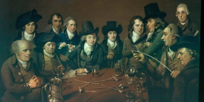 John Freeth and his circle, Johannes Eckstein, copyright Birmingham Museums and Art Gallery