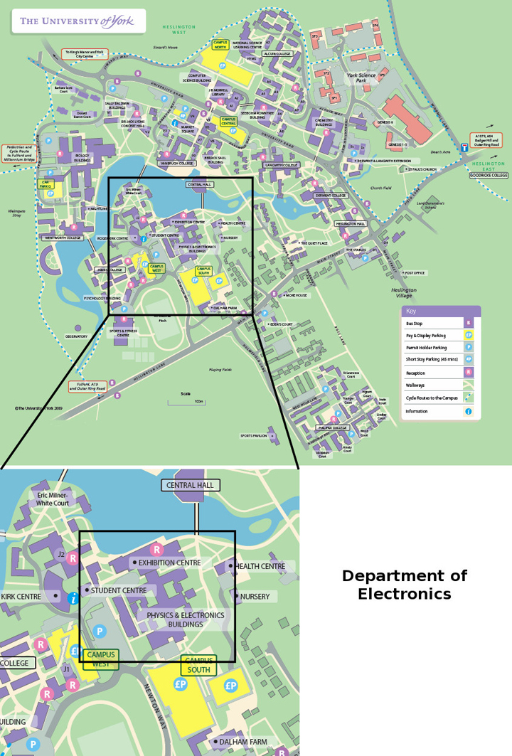 York Uni Map Campus Map   Electronic Engineering, The University of York York Uni Map