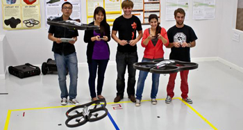 Students in the Robot Lab