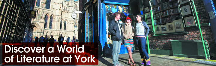 Discover a world of literature at York. Photo (c) Ian Martindale