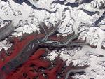 satellite image of glacier