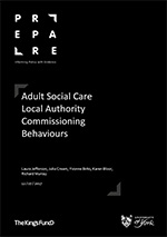 Adult Social Care Local Authority Commissioning Behaviours report image