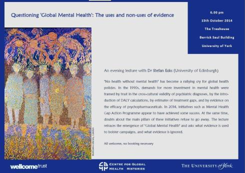 medical anthropology mental health A clear recognition that mental health requires medical intervention was demonstrated in a study by kessler et al of the prevalence and treatment of mental.