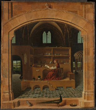 Antonello da Messina, Saint Jerome in his Study, about 1475 © The National Gallery, London